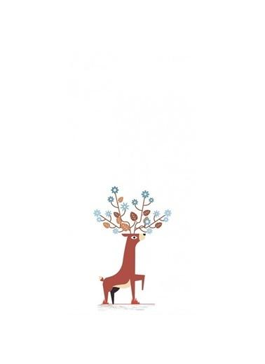 Artikel Geyik Desenli Dekoratif Çift Taraflı Yastık Kırlent Kılıfı 45x45 cm Renkli